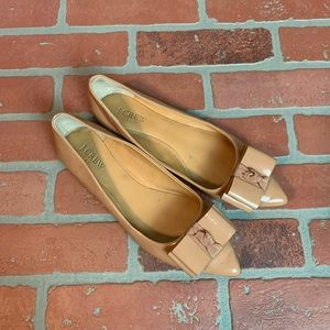 J. Crew Blush Nude Bow Pointed Toe Flats Size 7.5